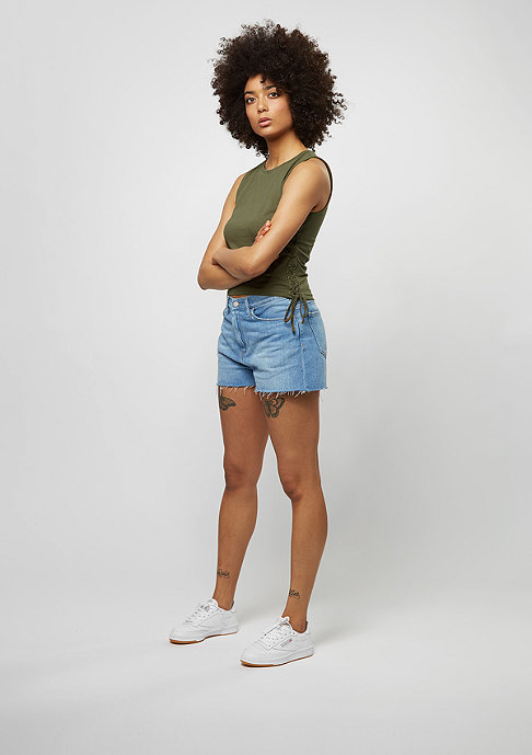 Urban Classics Tanktop Lace Up Cropped olive