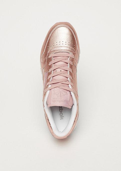 Reebok CL LTHR L pearl met / peach / white