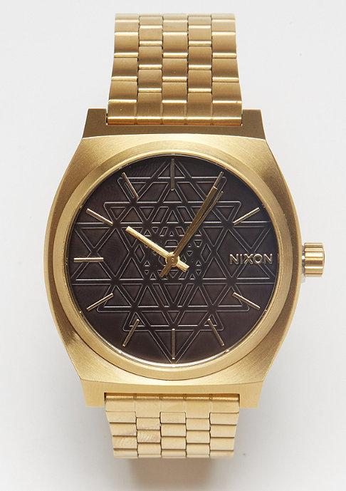Nixon Time Teller gold/black/stamped
