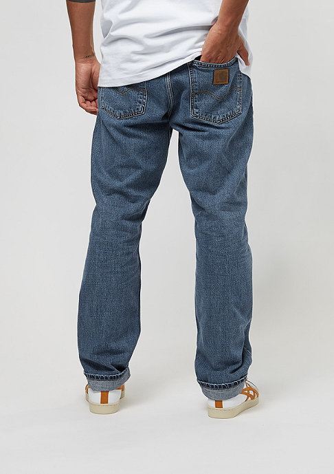 Carhartt WIP Marlow blue natural stone washed