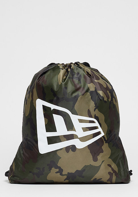 New Era Gymsack woodland camo/o.white