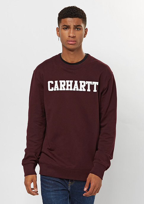 Carhartt WIP College damson/white