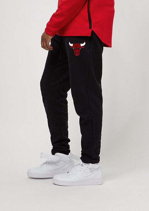 NIKE Pant NBA Chicago Bulls black/black/university red