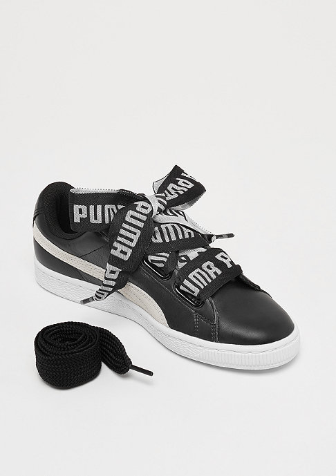 Puma Basket Heart black/white
