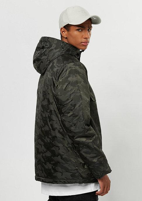 Urban Classics Padded Pull Over Jacket dark olive