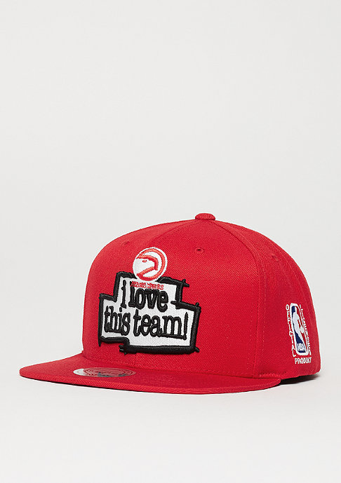 Mitchell & Ness I Love This Team MLB Atlanta Hawks red