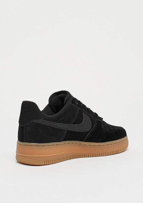 NIKE Wmns Air Force 1 07 SE black/black/gum med brown