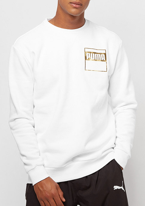 Puma Rebel Gold white