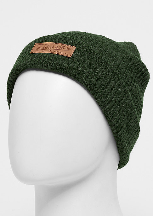 Mitchell & Ness Leather Patch Campus Cuff green/tan