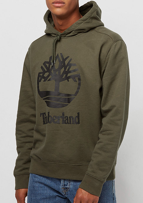 Timberland Stacked Logo olive night