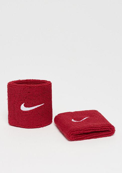NIKE Swoosh Wristbands varsity red/white