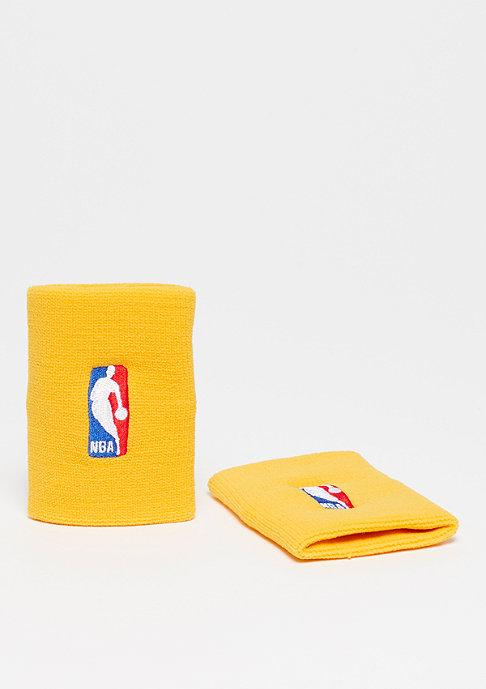 NIKE Basketball Wristbands NBA amarillo/amarillo
