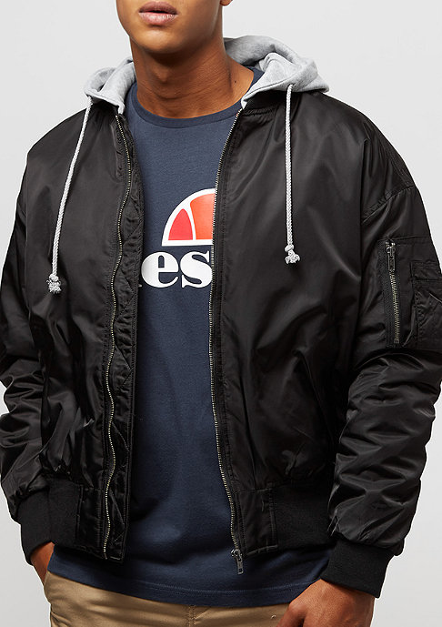 Urban Classics Hooded Oversized black/grey