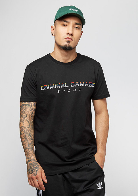 Criminal Damage Tee Gutentag black/multi