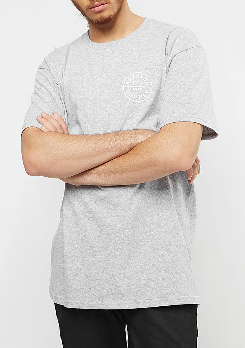 Brixton Oath heather grey/white