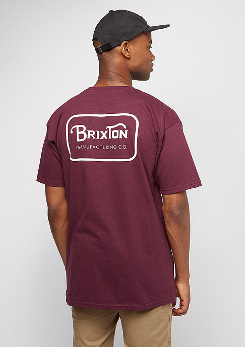 Brixton Grade burgundy/white