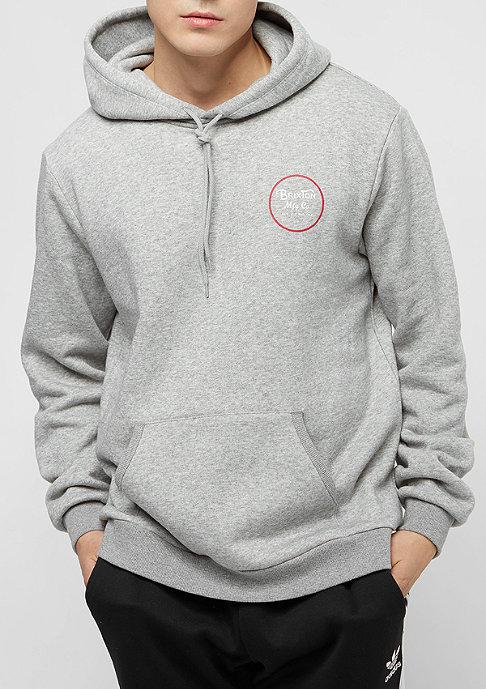 Brixton Wheeler Fleece heather grey/red