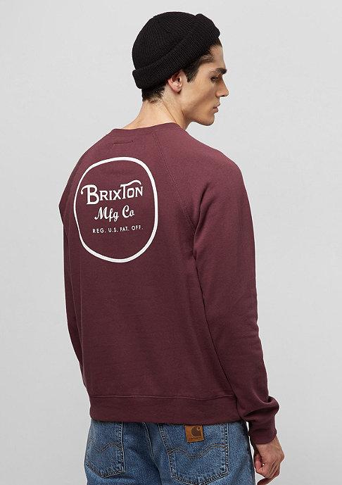 Brixton Wheeler Fleece maroon