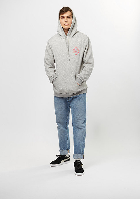Brixton Wheeler Fleece heather grey/orange