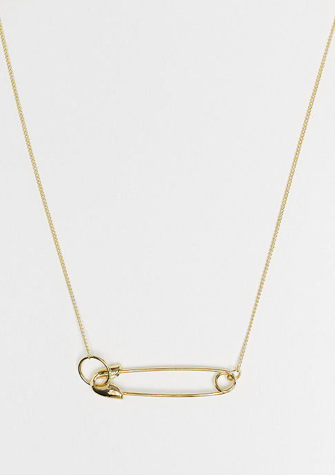 Cheap Monday Safety Pin Necklace gold
