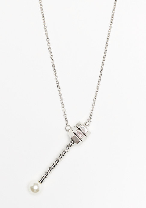 Cheap Monday Screw Necklace rhodium