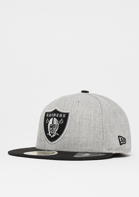59Fifty Reflective Heather NFL Oakland Raiders heather grey