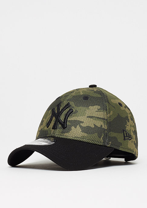New Era 9Forty Mesh Overlay MLB New York Yankees woodland camo