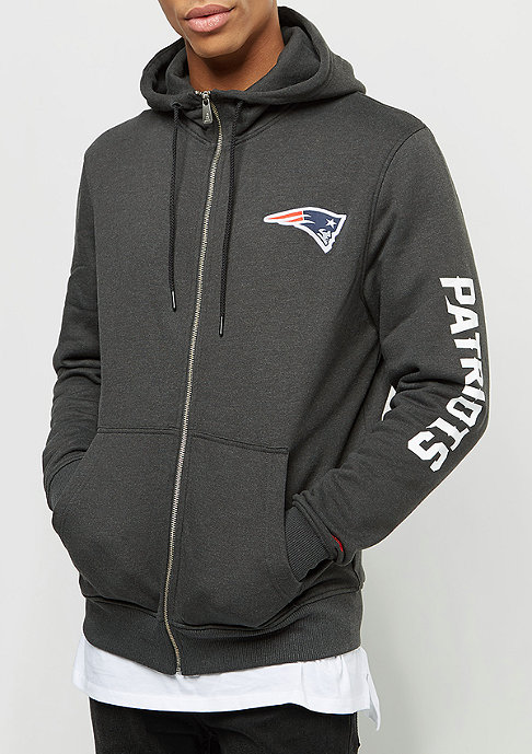New Era Team Apparel FZ Hoody New England Patriots graphite