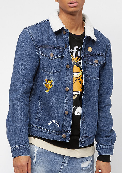 Cayler & Sons ALLDD Not Happy Garfield Trucker Jacket mid blue