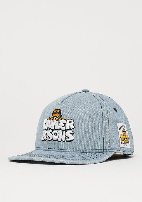 Cayler & Sons WL Garfield Cap washed blue denim