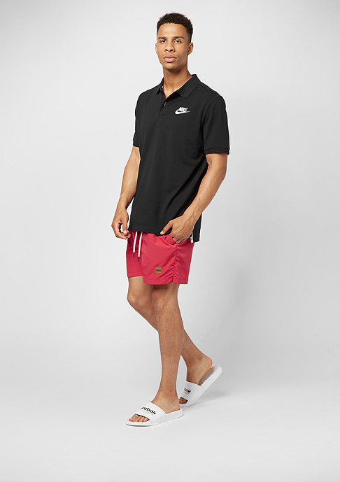 Urban Classics Block Swim Shorts black/red