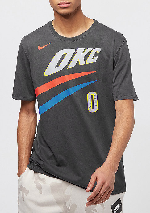 NIKE T-Shirt NBA Oklahoma City Thunder Russell Westbrook Dry flat opal