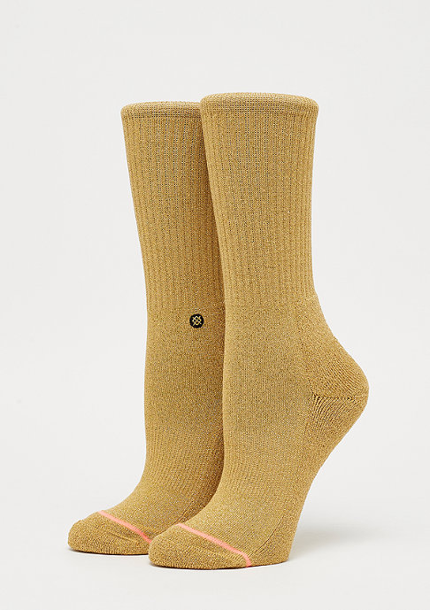 Stance Uncommon Solids Classic Crew gold