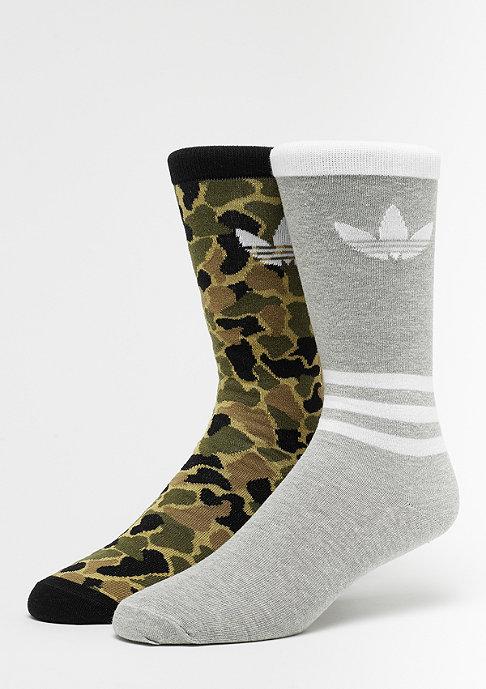 adidas T Crew Graphic 2er multicolor/black/medium grey heather