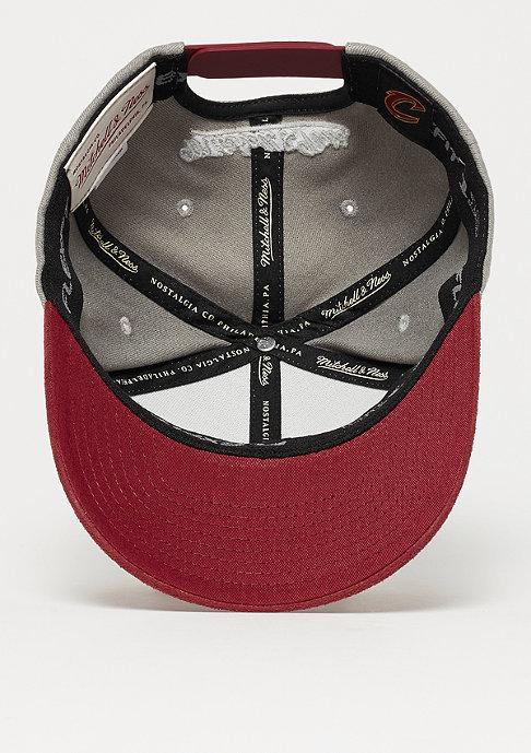 Mitchell & Ness Hyper Tech Wool Crown NBA Cleveland Cavaliers grey/burgundy