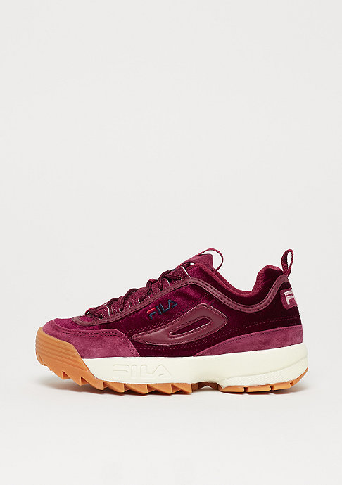 Fila Heritage Disruptor V Low WMN red velvet