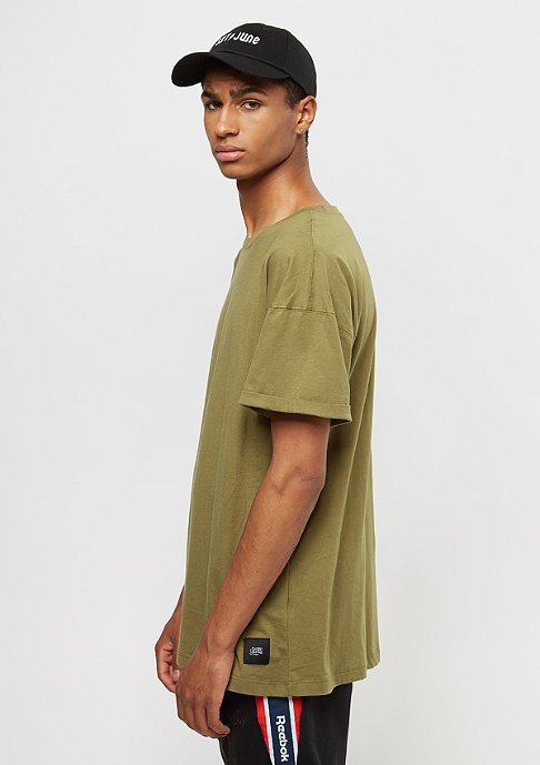 Sixth June Classic Oversize With Drop Shoulders stone green
