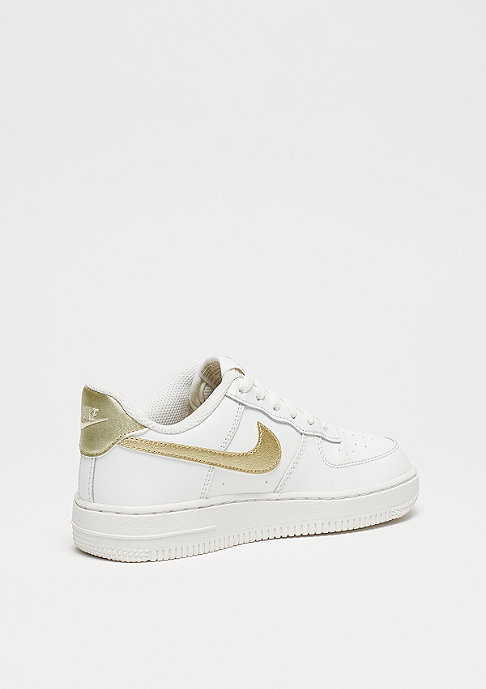 NIKE Air Force 1 (PS) summit white/metalic gold star-summit white