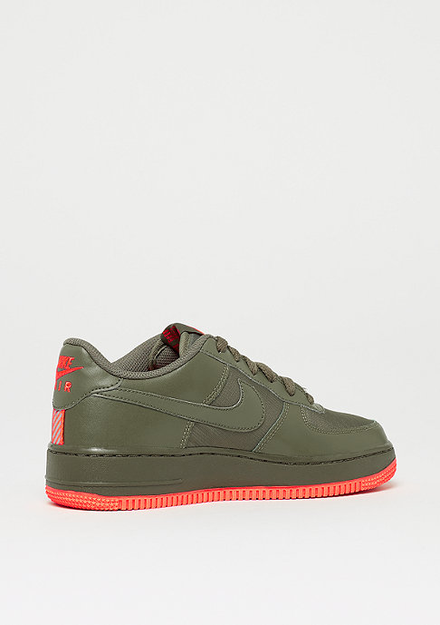 NIKE Air Force 1 LV8 (GS) medium olive/medium olive-total crimson