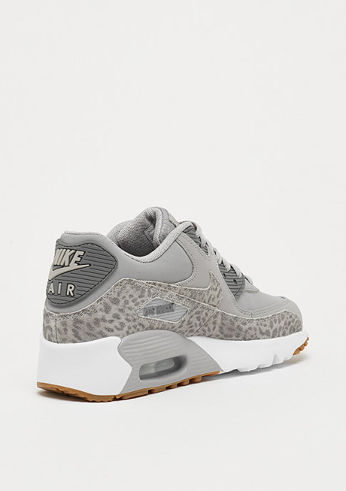 quality design f2d1b 9a8ef NIKE Air Max 90 Leather (GS) atmosphere grey gunsmoke-white