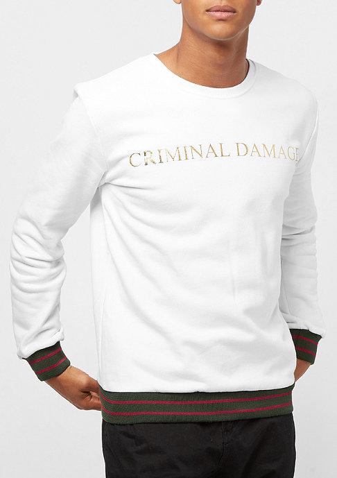 Criminal Damage Sweat Aldo white/gold