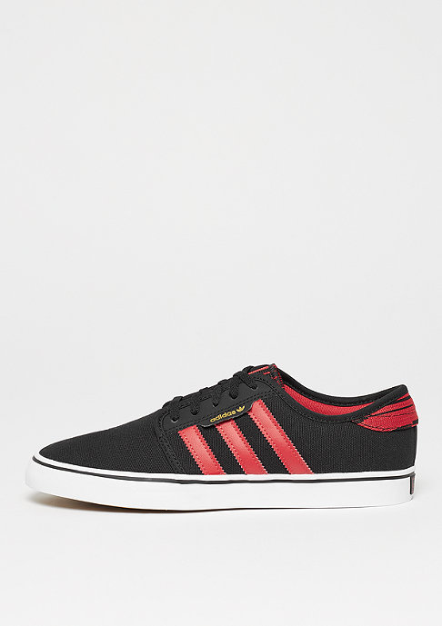adidas Skateboarding Seeley Suede/Leather core black/scarlet/ftwr white