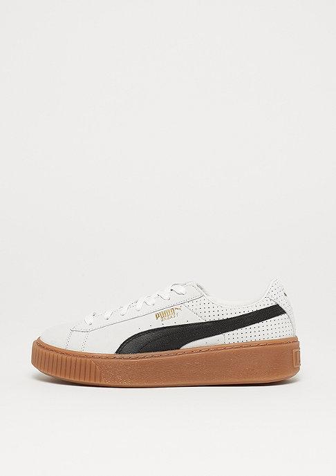 Puma Basket Platform Perf Gum white-black