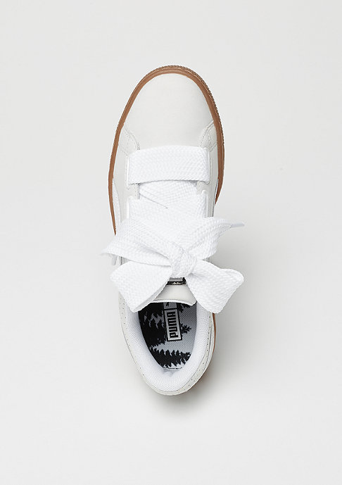 Puma Basket Heart Perf Gum white-black