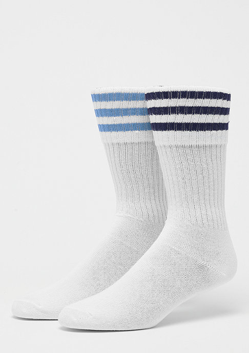 adidas Solid Crew Socks 2er white/collegiate navy/ash blue