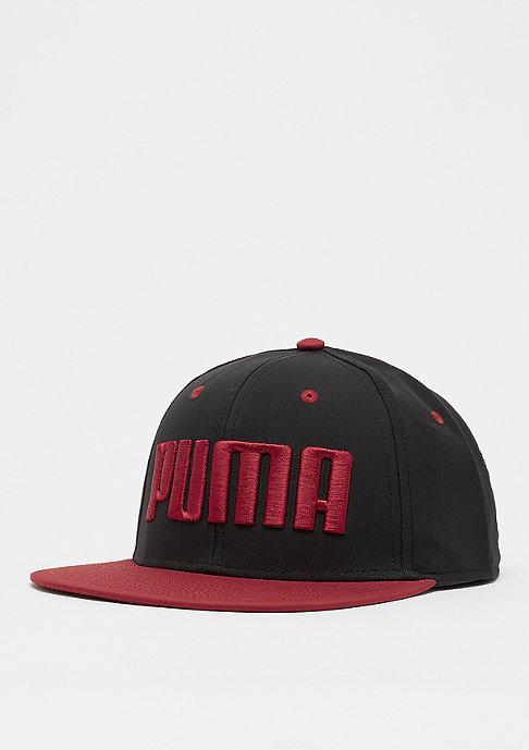 Puma Flatbrim black/red dehlia