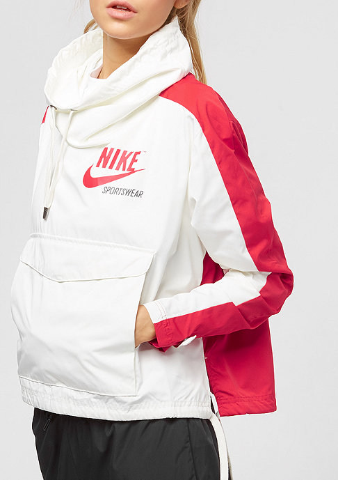 NIKE JKT PO Archive sail/university red