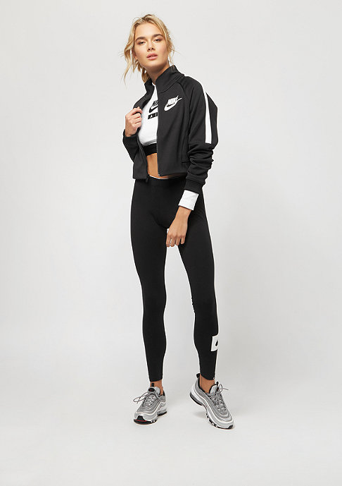 NIKE Crop Air white/black/black