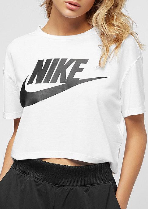 NIKE Essential Crop white/black