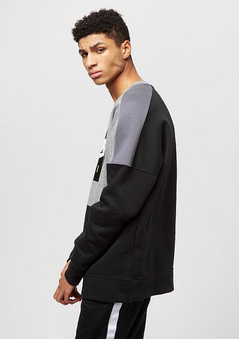NIKE Air Fleece carbon heather/dark grey/black/white